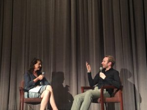 Clodagh interviewing Mark Noonan at the Director's Guild of America