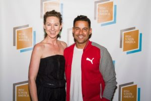 Clodagh & Jon Huertas Irish Screen America-LA Premiere of On the Lig